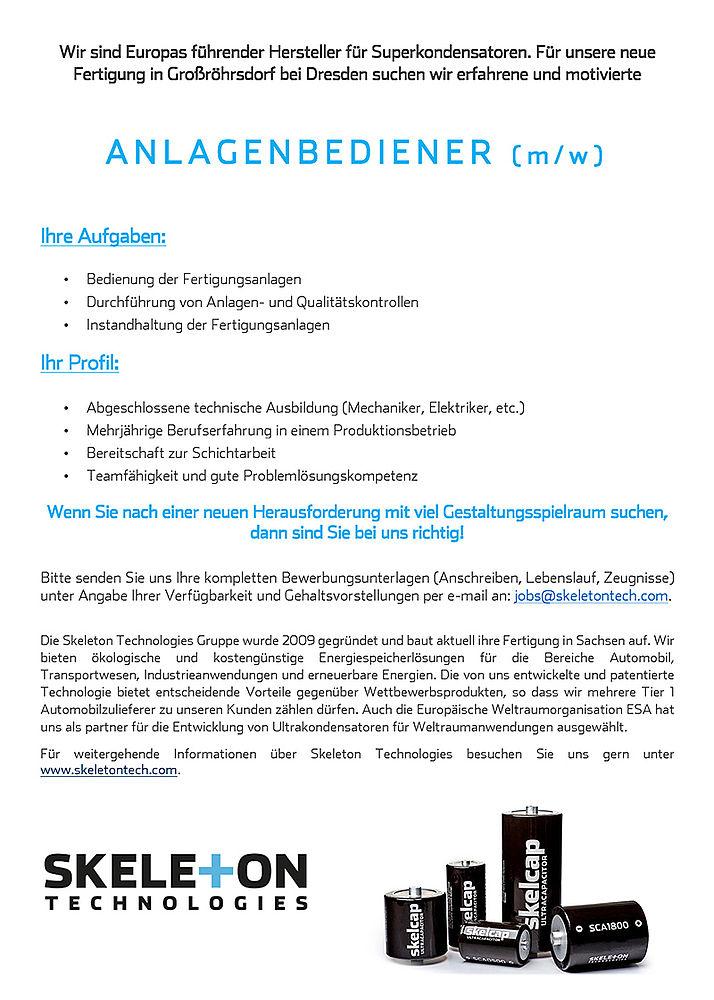 Personalbedarf Bei Der Skeleton Technologies Gmbh - Energy Saxony